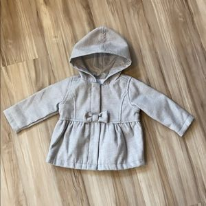 Old Navy | Peacoat outerwear, grey, size 6-12 mos.